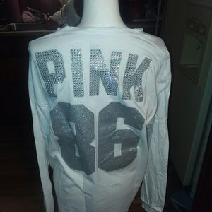 Vs pink l.s. campus tee